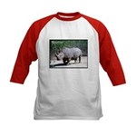 White Rhino Rhinoceros Photo (Front) Kids Baseball
