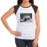 White Rhino Rhinoceros Photo Women's Cap Sleeve T-
