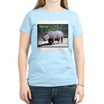 White Rhino Rhinoceros Photo Women's Pink T-Shirt
