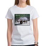White Rhino Rhinoceros Photo (Front) Women's T-Shi