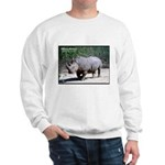 White Rhino Rhinoceros Photo (Front) Sweatshirt