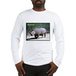 White Rhino Rhinoceros Photo (Front) Long Sleeve T