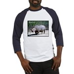 White Rhino Rhinoceros Photo Baseball Jersey