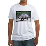 White Rhino Rhinoceros Photo Fitted T-Shirt