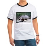 White Rhino Rhinoceros Photo (Front) Ringer T