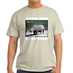 White Rhino Rhinoceros Photo (Front) Ash Grey T-Sh