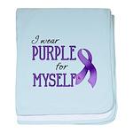 Wear Purple - Myself baby blanket