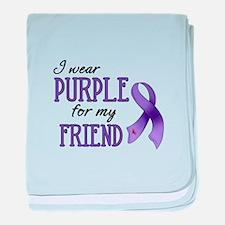Wear Purple - Friend baby blanket