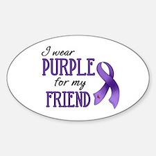 Wear Purple - Friend Sticker (Oval)
