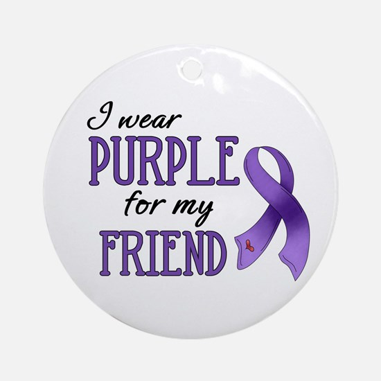 Wear Purple - Friend Ornament (Round)