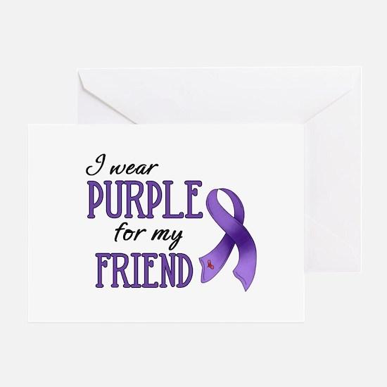 Wear Purple - Friend Greeting Card