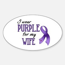 Wear Purple - Wife Sticker (Oval)