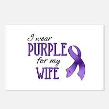 Wear Purple - Wife Postcards (Package of 8)