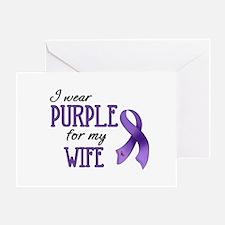 Wear Purple - Wife Greeting Card
