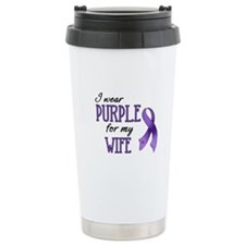 Wear Purple - Wife Travel Coffee Mug