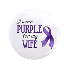 """Wear Purple - Wife 3.5"""" Button (100 pack)"""