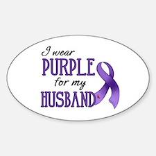 Wear Purple - Husband Sticker (Oval)
