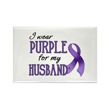 Wear Purple - Husband Rectangle Magnet