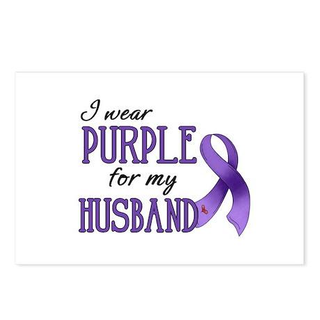Wear Purple - Husband Postcards (Package of 8)