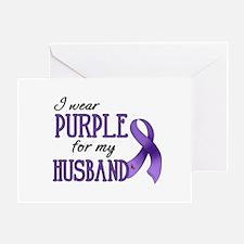 Wear Purple - Husband Greeting Card