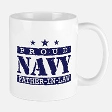 Proud Navy Father In Law Mug