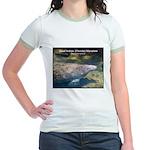 Florida Manatee Photo Jr. Ringer T-Shirt