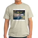 Florida Manatee Photo (Front) Ash Grey T-Shirt