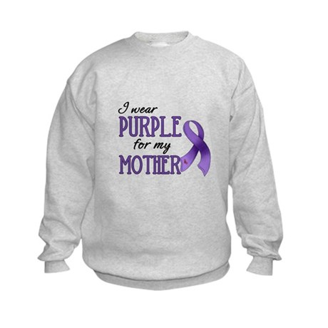 Wear Purple - Mother Kids Sweatshirt