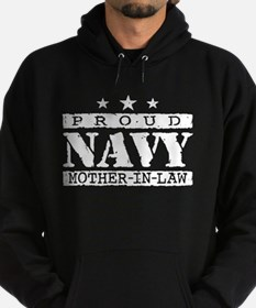 Proud Navy Mother In Law Hoodie