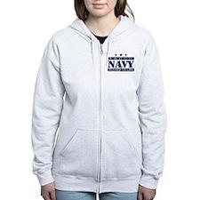 Proud Navy Mother In Law Zip Hoody