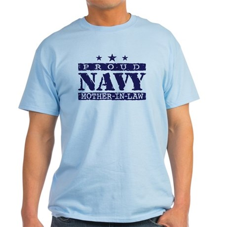 Proud Navy Mother In Law Light T-Shirt