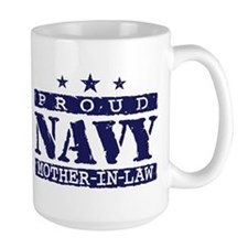 Proud Navy Mother In Law Mug