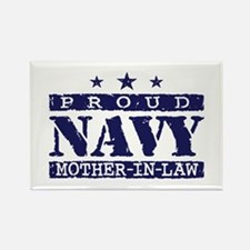 Proud Navy Mother In Law Rectangle Magnet