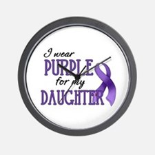 Wear Purple - Daughter Wall Clock