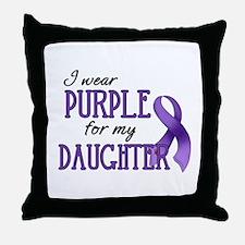 Wear Purple - Daughter Throw Pillow