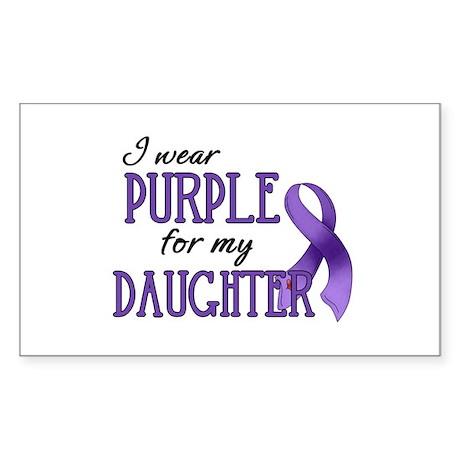 Wear Purple - Daughter Sticker (Rectangle)