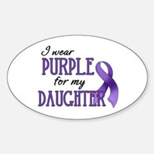 Wear Purple - Daughter Sticker (Oval)