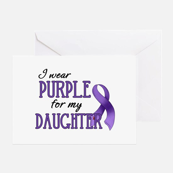 Wear Purple - Daughter Greeting Card