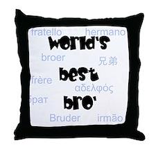 World's Best Bro' Throw Pillow