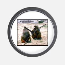 Hamadryas Baboon Photo Wall Clock