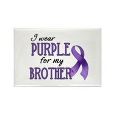 Wear Purple - Brother Rectangle Magnet