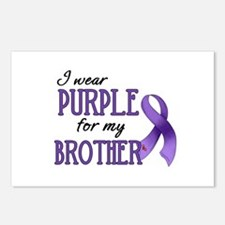 Wear Purple - Brother Postcards (Package of 8)