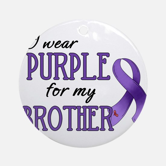 Wear Purple - Brother Ornament (Round)
