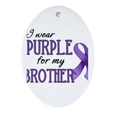 Wear Purple - Brother Ornament (Oval)