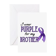 Wear Purple - Brother Greeting Card