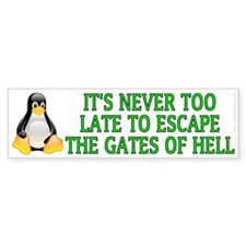 It's never too late Car Car Sticker