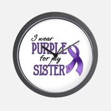 Wear Purple - Sister Wall Clock