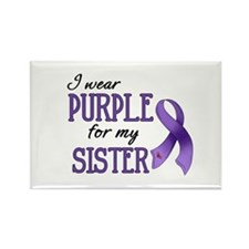 Wear Purple - Sister Rectangle Magnet