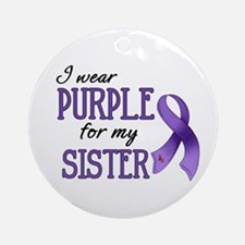 Wear Purple - Sister Ornament (Round)