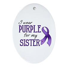 Wear Purple - Sister Ornament (Oval)